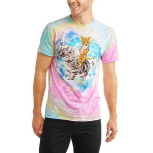 Social media Tie Dye Cat Unicorn Tee